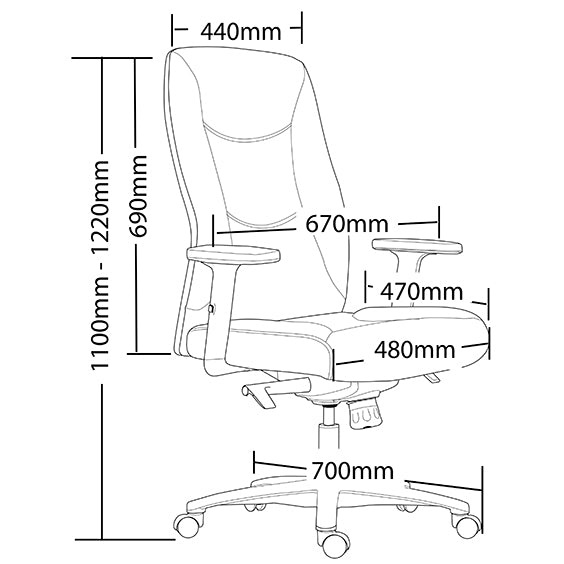 Ergonomic Hilton Executive Office Chair - Buy Online Now At Active Offices