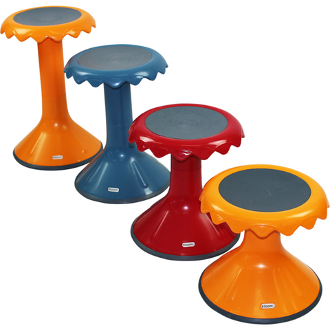 Image of 6 Package Bloom Learning Aid Wobble Sensory Student Stool Set - Buy Online Now At Active Offices