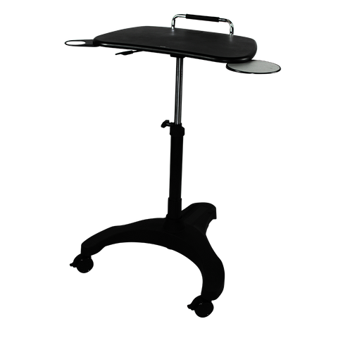 Height Adjustable Laptop Trolley Standing Desk. - Buy Online Now At Active Offices