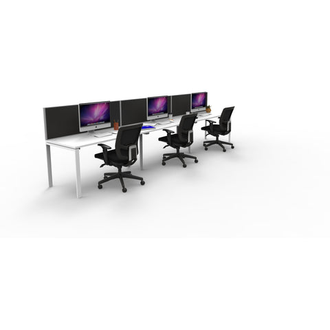 Single Office Desk Stations With Screen   Buy Online Now At Active Offices  ...