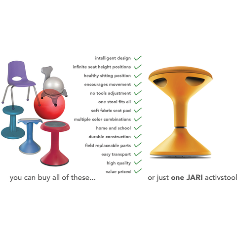 4 Pack Of Jari Wobble Learning Aid Stools - Buy Online Now At Active Offices
