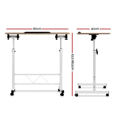 Image of Height Adjustable Standing Portable Mobile Laptop Desk - Buy Online Now At Active Offices