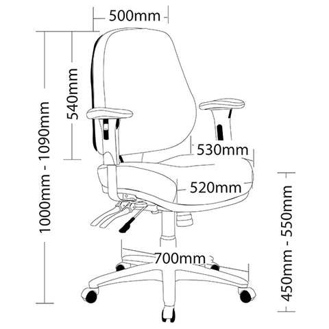 Image of Ergonomic Logan Multi Shifting Office Chair - Buy Online Now At Active Offices