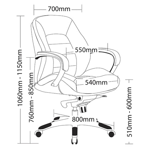 Image of Ergonomic Magnum Executive Office Chair - Buy Online Now At Active Offices