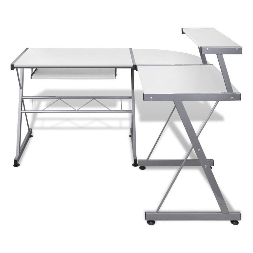 Corner L Shape Metal Pull Out Table Office Study Desk - Buy Online Now At Active Offices
