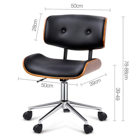 Image of Modern Executive Walnut Office Desk Chair - Buy Online Now At Active Offices