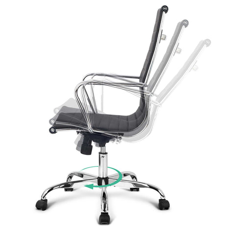 Image of Eames Replica Office Chair Computer Seating Mid High Back White or Black - Buy Online Now At Active Offices