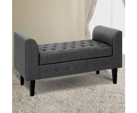Image of Artiss Retro Button Storage Sofa Ottoman