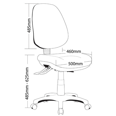 Image of Ergonomic P350 Task Office Chair Level 6 AFRDI Tested - Buy Online Now At Active Offices