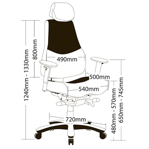 Image of Ergonomic Ranger Strong Heavy Duty Office Chair 160kg Weight Limit. - Buy Online Now At Active Offices