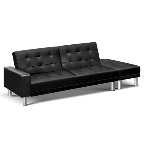 Image of Classic Button Faux Leather 3 Seater Sofa Lounge Suite - Buy Online Now At Active Offices