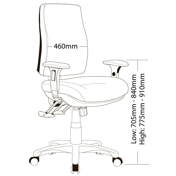 Ergonomic Big Boy Classic Look Chair For Your Office - Buy Online Now At Active Offices