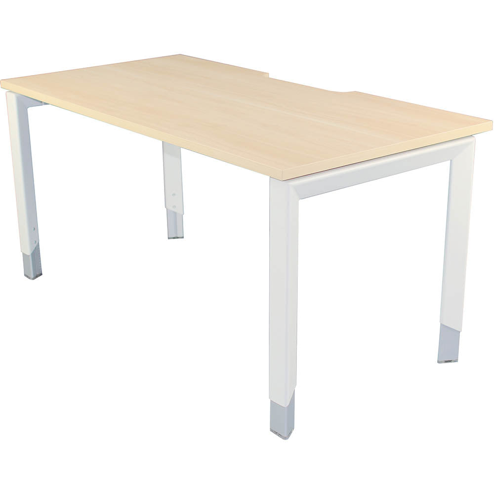 Manual Height Adjustable Rectangular Office Desk - Buy Online Now At Active Offices