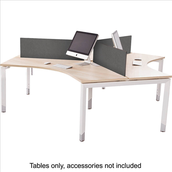 Height Adjustable 3 Person Workstation Pod Desks - Buy Online Now At Active Offices