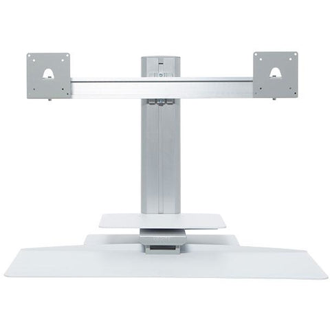 Image of Uprite Dual Monitor Standing Desktop Workstation - Buy Online Now At Active Offices