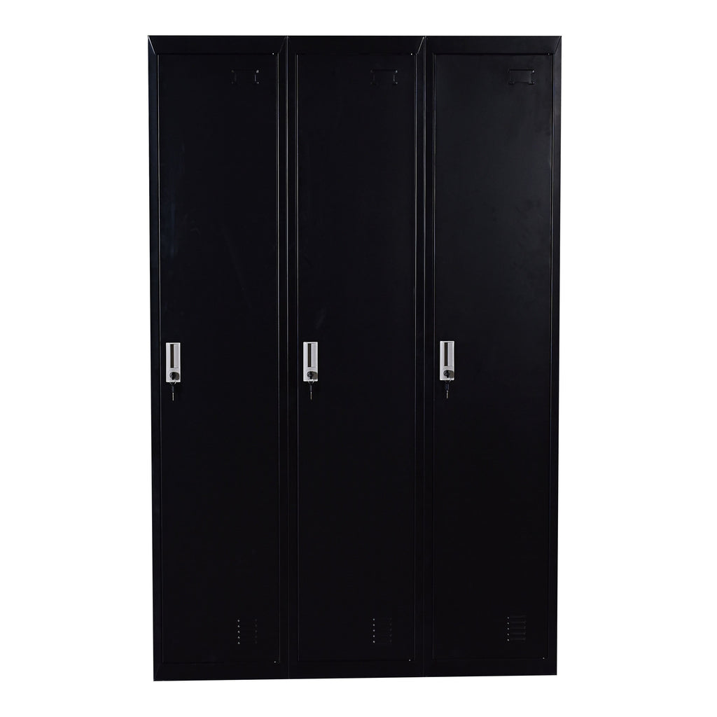 Three-Door Side by Side Office Gym Shed Storage Locker - Buy Online Now At Active Offices