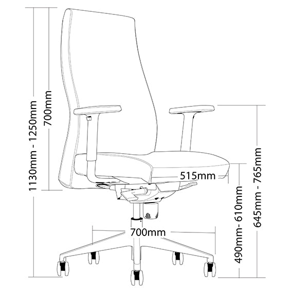 Ergonomic Venus Executive Office or Boardroom Chair - Buy Online Now At Active Offices