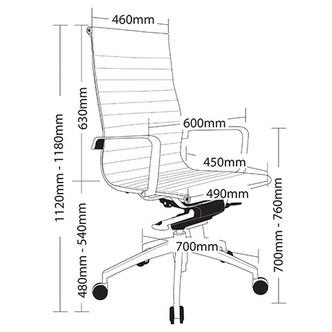 Classy Ergonomic Web Executive Office Chair - Buy Online Now At Active Offices