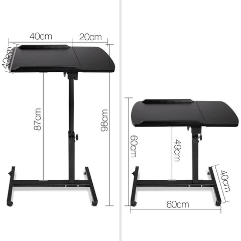 Portable Height Adjustable Standing Laptop Computer Stand Trolley - Buy Online Now At Active Offices
