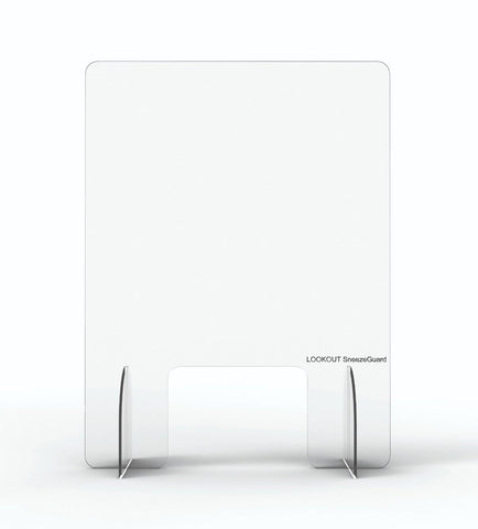 Image of Clear Lookout Sneeze Guard Screen For Your Business