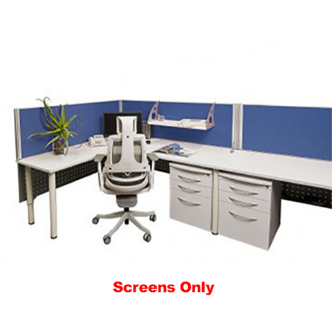 Image of E-Screens Straight Partition Mounted Privacy Screen Walls For Office Desks. - Buy Online Now At Active Offices