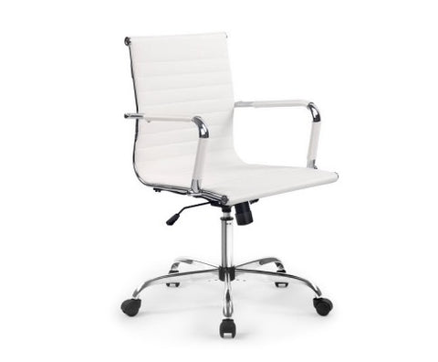Eames Replica Office Chair Computer Seating Mid High Back White or Black - Buy Online Now At Active Offices