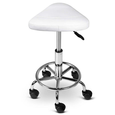 Vegan PU Leather Swivel Saddle Stool - Buy Online Now At Active Offices