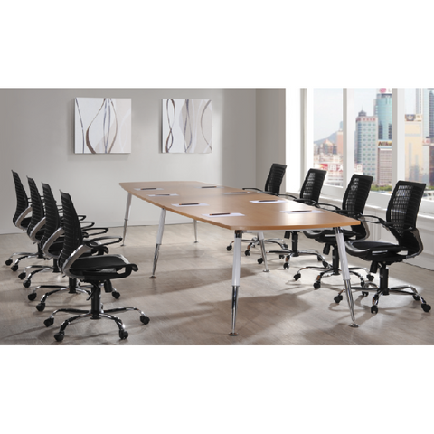 Boat Shape Executive Boardroom Table. - Buy Online Now At Active Offices