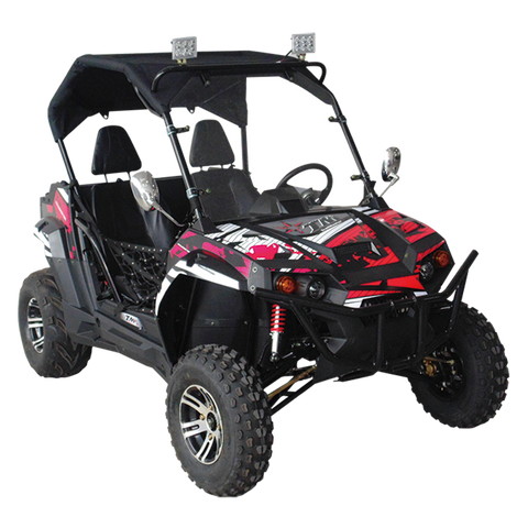 Trailmaster UTV150X Challenger Luxury Side by Side 150cc Youth & Adult UTV Black