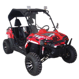 Trailmaster UTV150X Challenger Luxury Side by Side 150cc Youth & Adult UTV Red