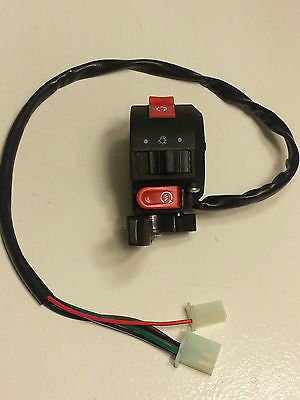 LEFT SWITCH 2 PLUGS 5 WIRES FIT SOME CHINESE 50CC 70CC 90CC - ATV SCOOTER STORE, INC