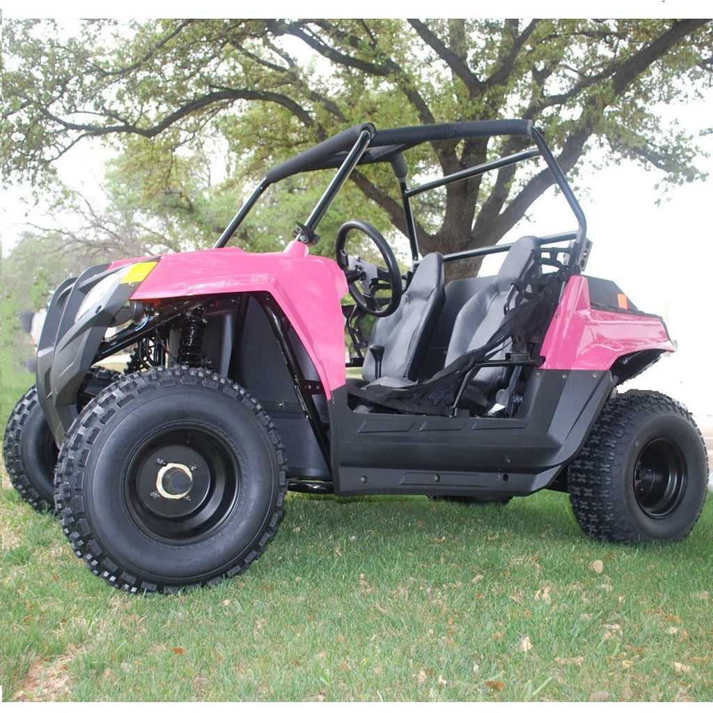Cazador Beats 180XL 169cc  with Automatic Transmission w/Reverse Adult Side by Side UTV Pink