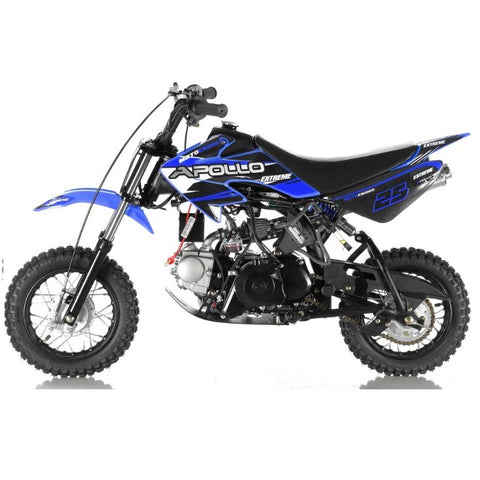 Apollo DB-25 70cc Dirt Bike with Fully Automatic Transmission. Free Training Wheels Included.