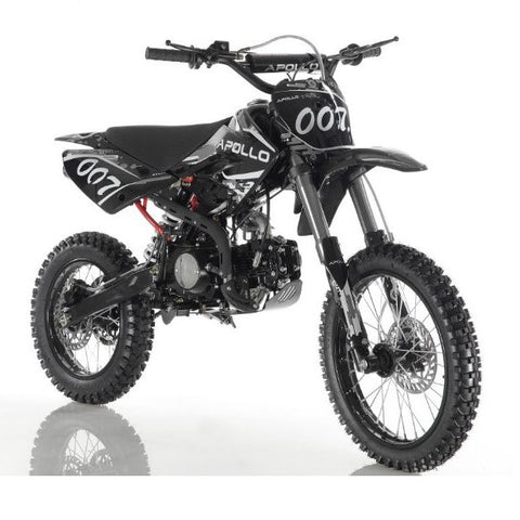 Apollo DB-007 125cc Dirt Bike with 4 Gear Manual Clutch Black