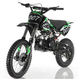 "Apollo DB-007 125cc Dirt Bike with 4 Gear Manual Clutch. Kick Start. Bigger 17""/14"" Wheels - ATV SCOOTER STORE, INC"