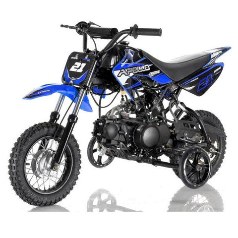 Apollo DB-21 70cc Dirt Bike with Semi-Automatic 4 Gears Transmission Blue