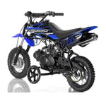Apollo DB-21 70cc Dirt Bike with Semi-Automatic 4 Gears Transmission. Free Training Wheels Included. - ATV SCOOTER STORE, INC