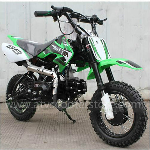 Coolster QG-213A with Fully Automatic Transmission 110cc Dirt Bike. Electric Start!