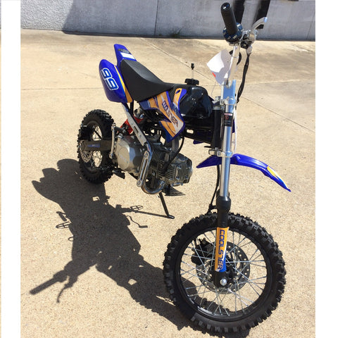 Coolster QG-214XR 125cc Dirt Bike with Semi-Auto Transmission Blue