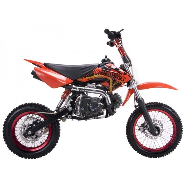 Coolster QG-214 with 4 Speed Manual Clutch 125cc Dirt Bike. Kick Start