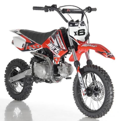 Apollo DB-X6 125cc Dirt Bike with 4 Speed Fully Automatic Transmission Red