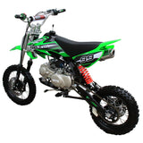 Coolster QG-214XR 125cc Dirt Bike with Semi-Auto Transmission Green