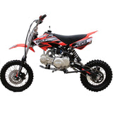 Coolster QG-214XR 125cc Dirt Bike with Semi-Auto Transmission Red