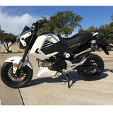 "Thunder 2-Seater 125cc Motorcycle w/ Manual Trans. 12"" Alum Rims!"