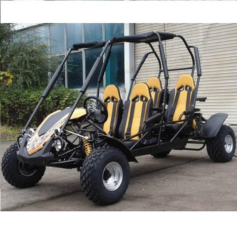 Trailmaster Blazer4 4-Seater 150cc With Automatic Transmission w/Reverse GoKart Yellow! Family GoKart
