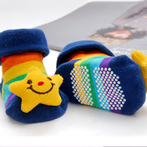 0 -18 Month 3D Cartoon Baby Anti Slip Cotton Socks!