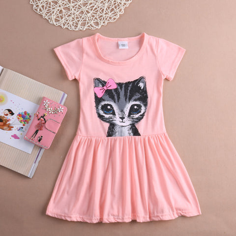 Beautiful Girl's Kitten Dress