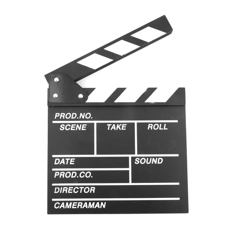 Clapperboard Wood 20x20x1.5cm Film Director Slate