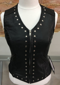 Ladies Lace Backed Lambskin Vest by Unik International 6883