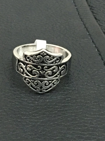 Ladies Stainless Filigree Ring